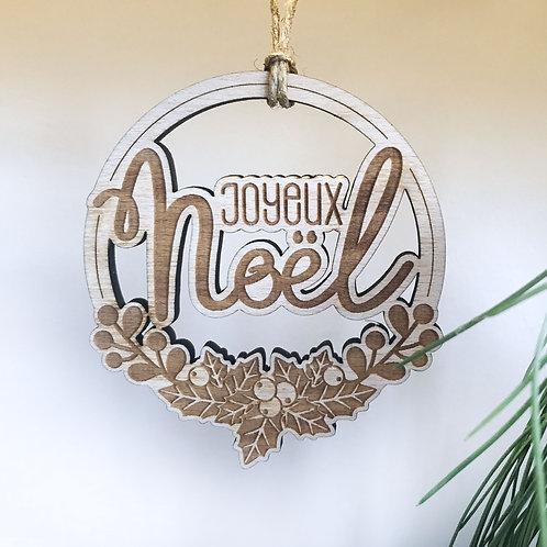 Boule de Noël Joyeux Houx