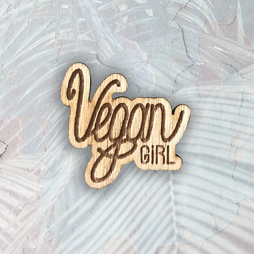 Broche Vegan Girl
