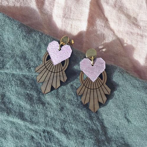 Boucles d'oreilles Coeur Pendant