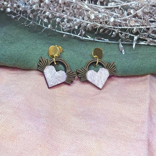Boucles d'oreilles Coeur Ailé