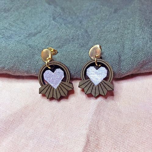 Boucles d'oreilles Coeur Rayonnant