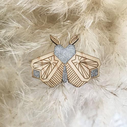 """Broche Papillon de nuit """"P'tites Bestioles"""""""
