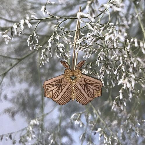Boucles d'oreilles Papillon de nuit