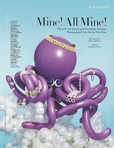 Tatler Magazine Balloon Octopus