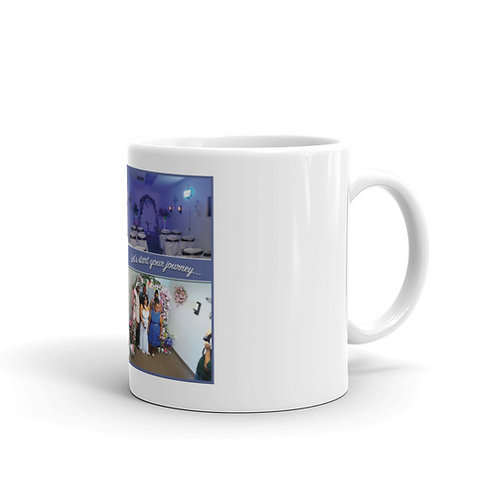White glossy mug- Little Wedding Chapel