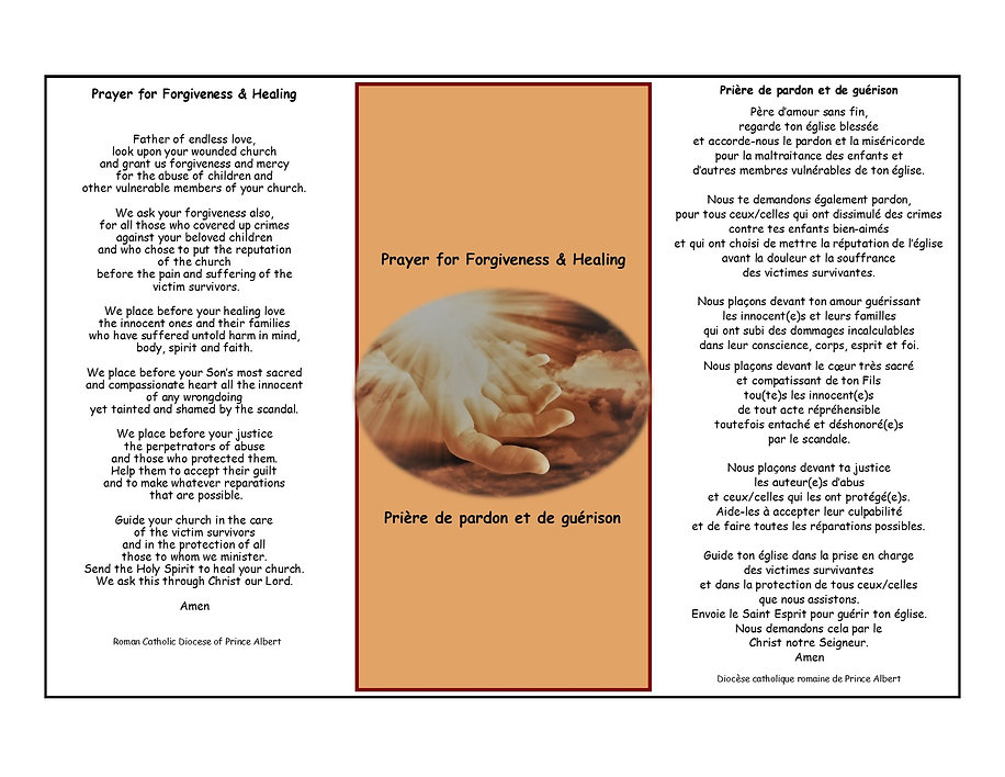 Prayer card Responisble ministry on line
