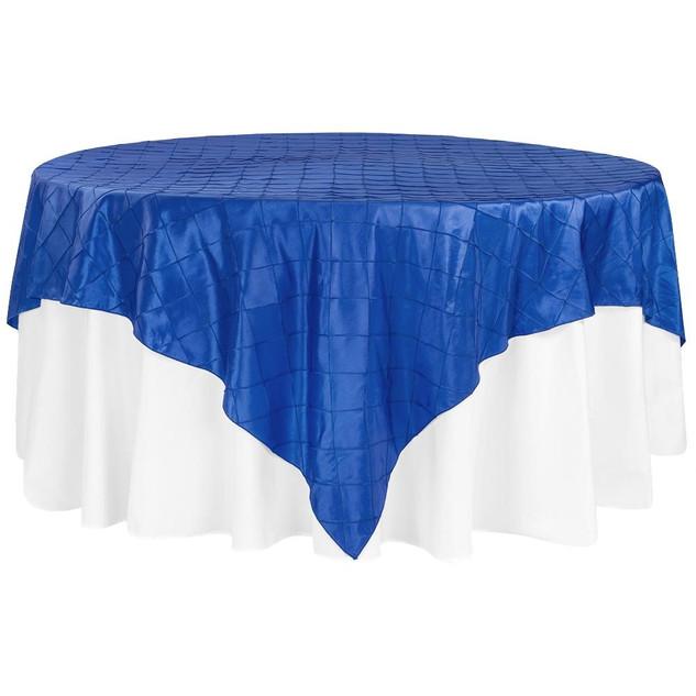 Pintuck Royal Blue Table Overlay $10.50