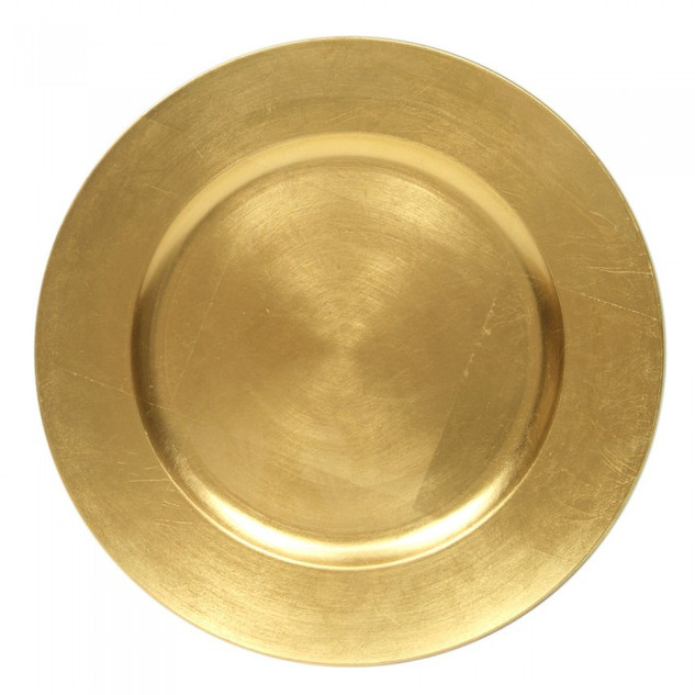 Round Gold Charger Plates $.75
