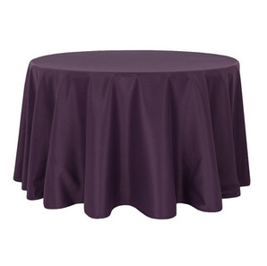 Eggplant/Plum Polyester Round Table Cloth $8.50