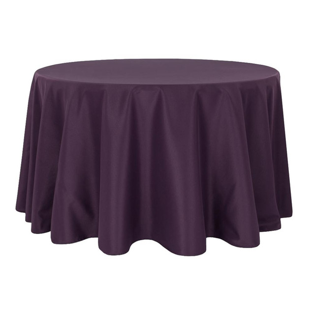Eggplant/Plum Polyester Round Table Cloth $8.50