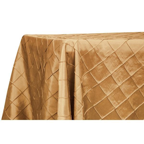 Pintuck Gold Satin Rectangle Table Cloth $12.50