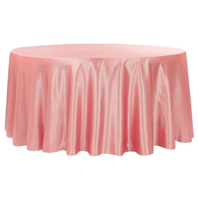 Coral/Salmon Satin Round Table Cloth $8.50