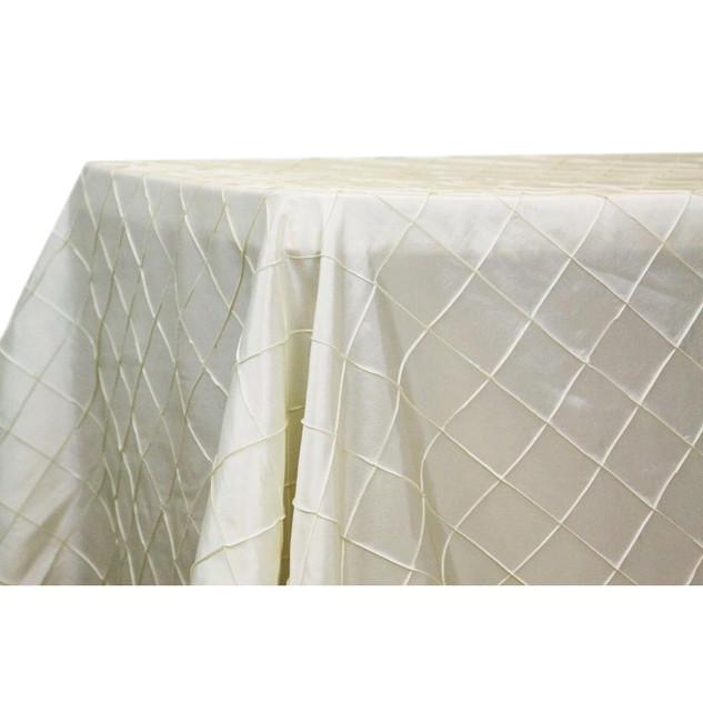 Pintuck Ivory Satin Rectangle Table Cloth $12.50
