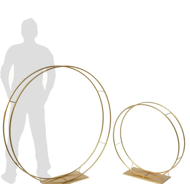 Metal Halo Circle Cake Stands or Balloon Arches