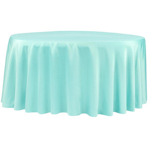 Tiffany Blue Satin Round Table Cloth $8.50