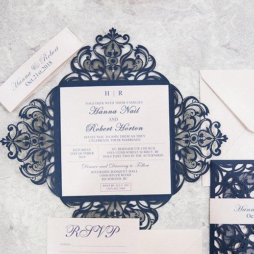 Elegant Lace Gateway Fold Invitation Suite