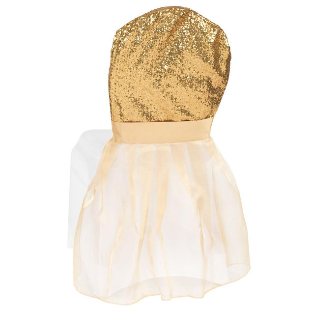 Gold Sequin Chair Cover Cap $5.00