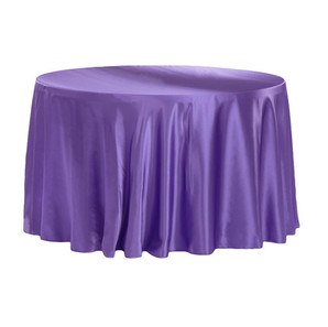 Purple Satin Round Table Cloth $8.50