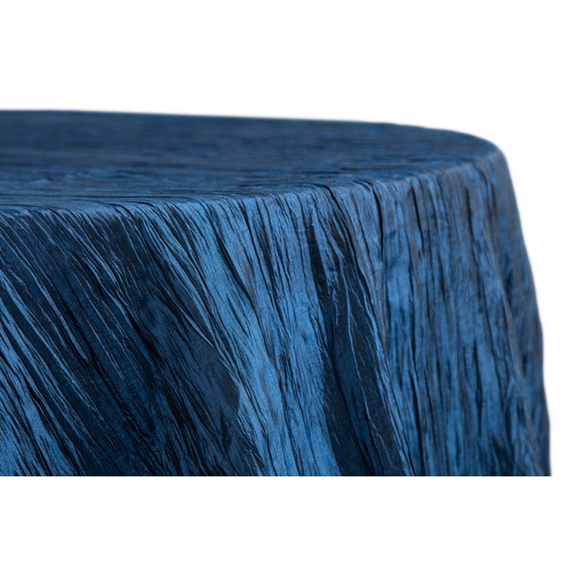 Accordian Taff-Round Navy Blue Tablecloth $15.50