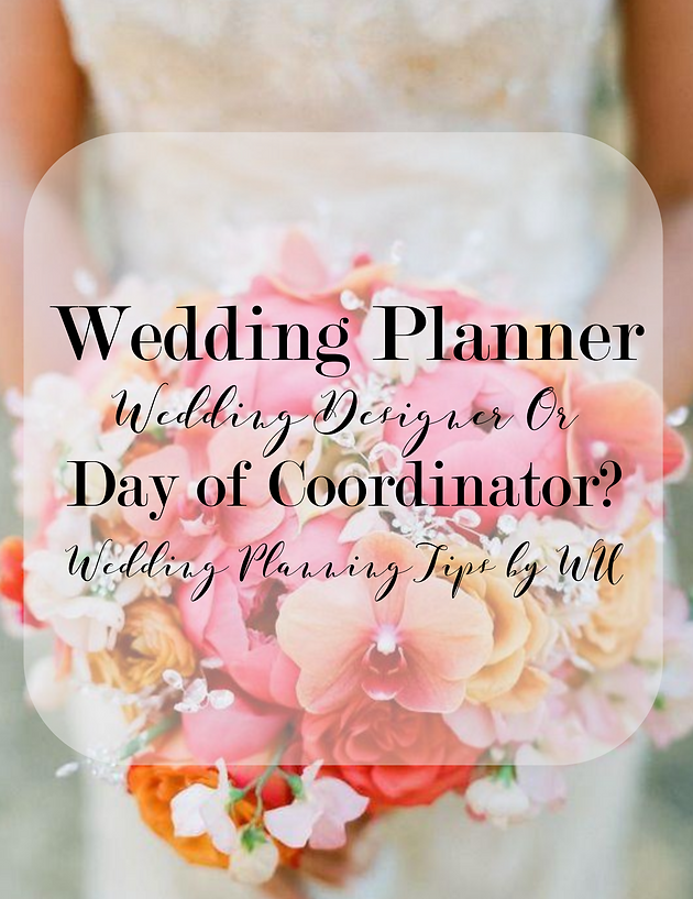Wedding planning tips tuesdays wedding planner designer or for example diy brides may not need a wedding planner or designer however hires a wedding coordinator to pull all wedding details together junglespirit Choice Image