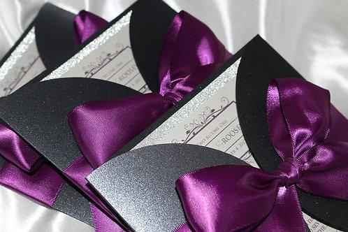 Signature Two-Way Gateway Fold Invitation with Ribbon