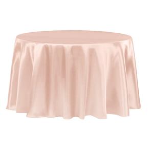 Blush/Light Pink Satin Round Tablecloth $8.50