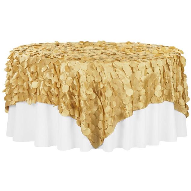 Gold Petals Satin Overlays $15.50
