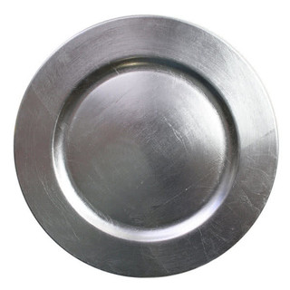 Round Silver Charger Plates $.75