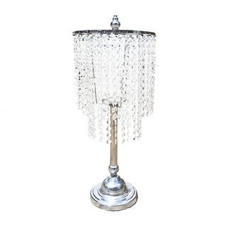 Silver Crystal Chandelier Centerpiece $25