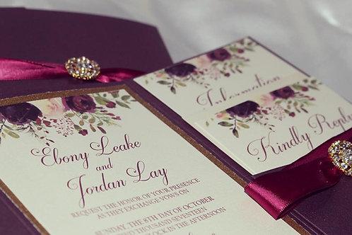 Signature Tri-Fold Pocket Invitation Suite