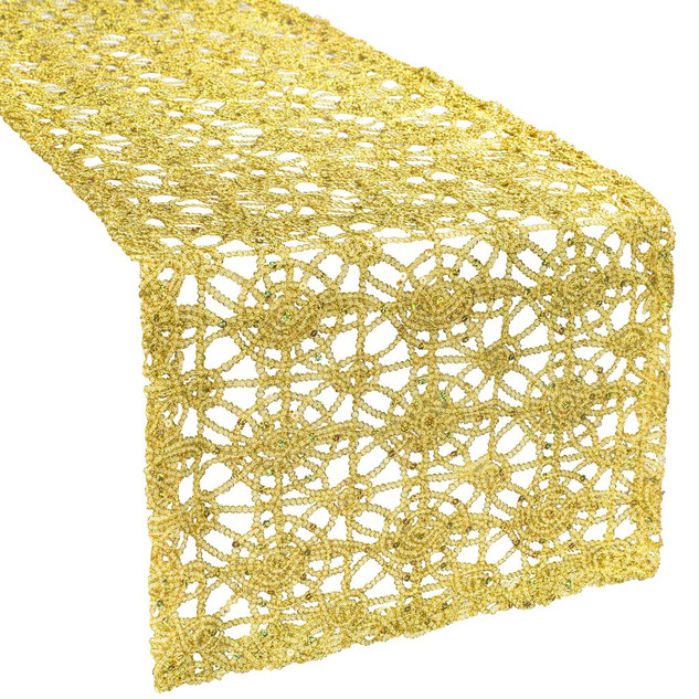 Gold Chemical Lace Table Runner $6.00