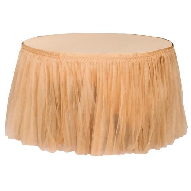 Gold Glitter Table Tulle Skirt $18.00