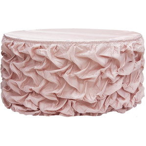 Blush Gathered Satin Table Skirt $18.00