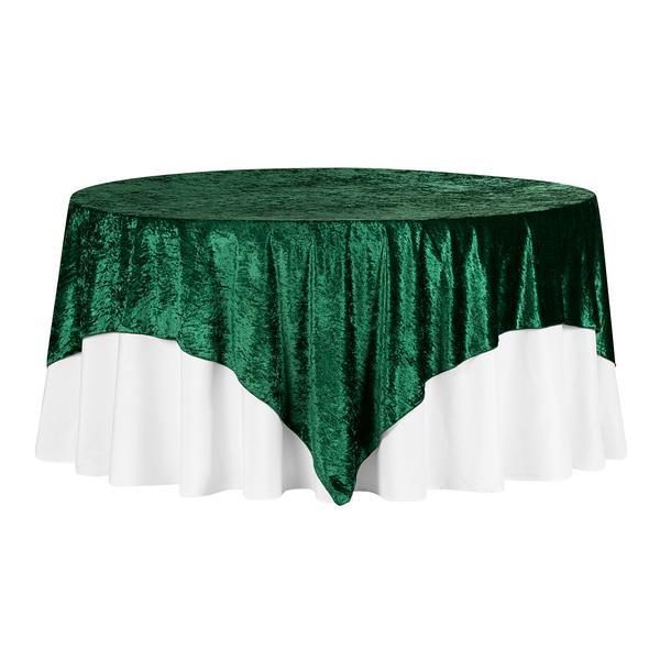Emerald Green Velvet Overlay Table Cloth $12.00