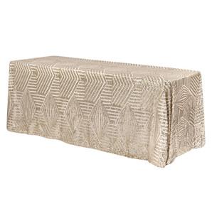 Geometric Art Deco Sequin Tablecloth $20.00