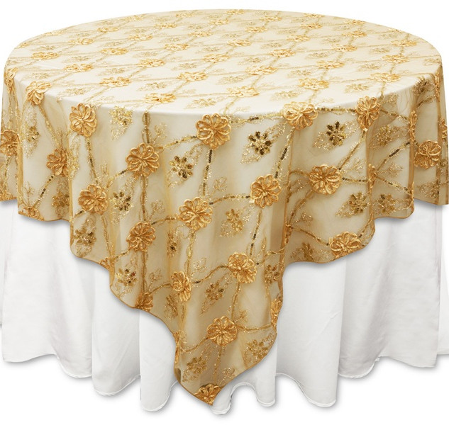 Gold Embroidery Floral Lace Overlays $15.50