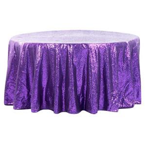 Purple Sequin Round Table Cloth $15.00