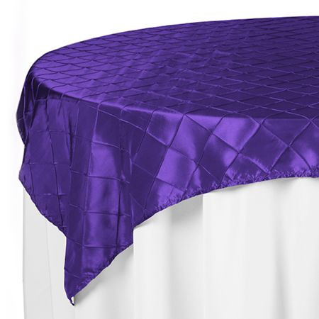 Purple Pintuck Rectangle Table Cloths $12.50