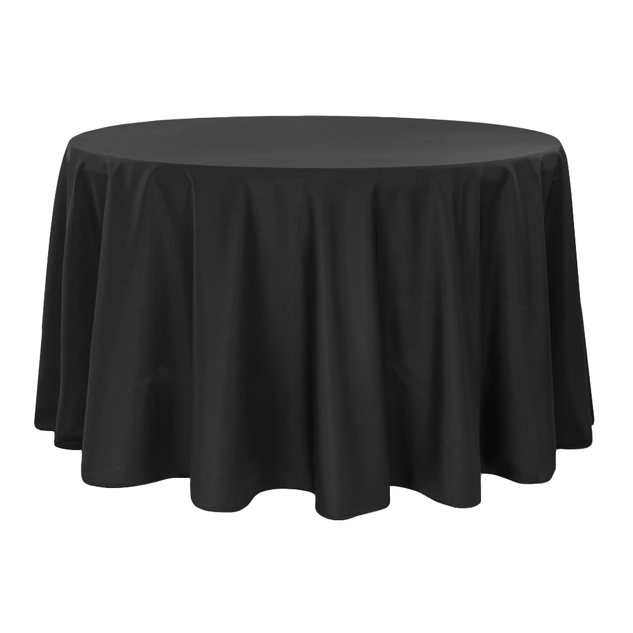 Round Polyester Tablecloth-Black $8.50