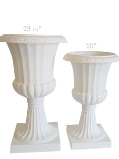 White Floral Urns for Ceremony (2 Available)