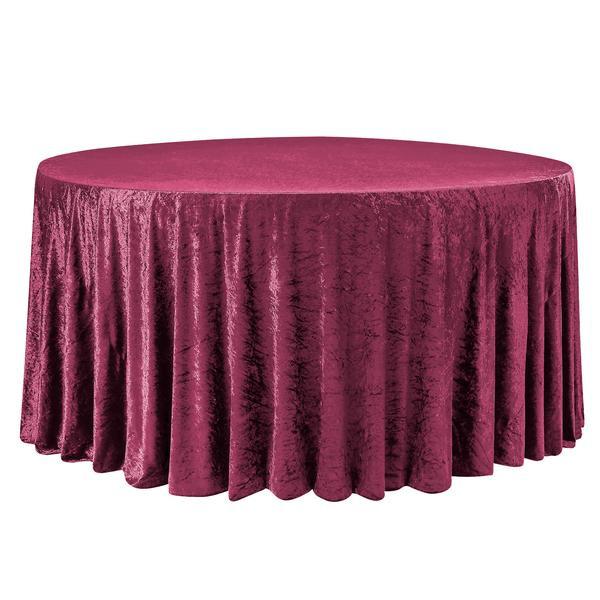 Burgundy Velvet Table Cloth $15.00