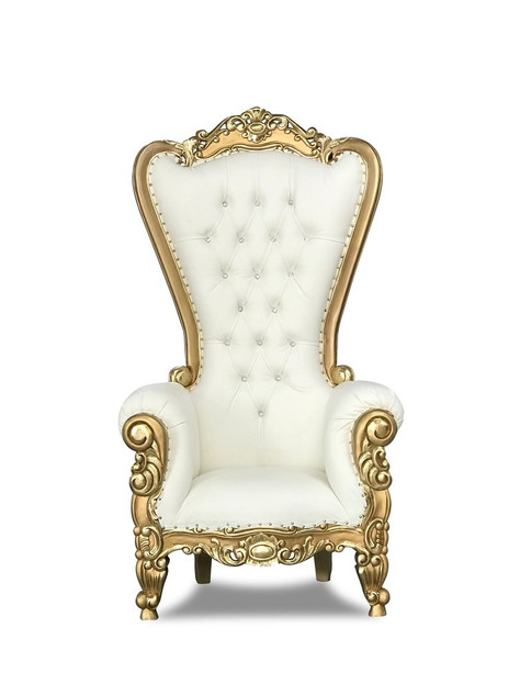 OG Gold and White Royal Throne Chairs (2 Available) $125 Each