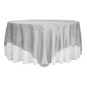 Silver Taffeta Table Overlay $10.50
