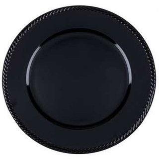 Round Black Charger Plates $.75