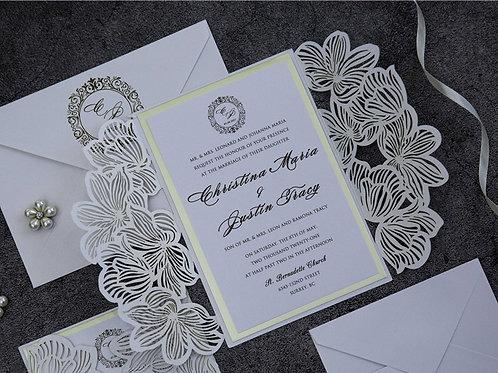 Luxurious Laser Cut Florals Gateway Invitation