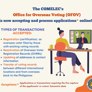 Virtual Frontline Services of COMELEC - Office of Overseas Voting