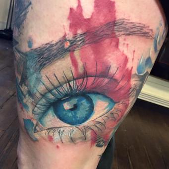Watercolour blue eye