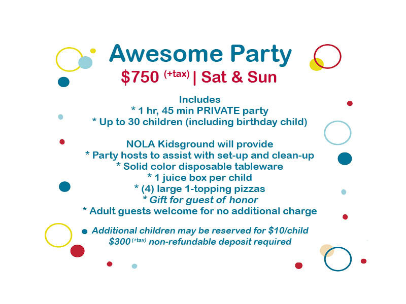 Awesome Party (Deposit)