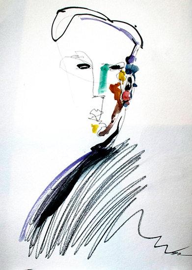 Grapes. Illustration