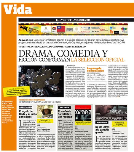 V Festival internacional de cortometrajes el Heraldo